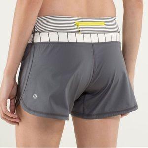 Lululemon Gray Groovy Run Shorts
